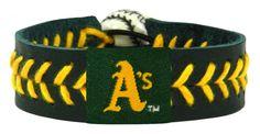 Oakland Athletics Baseball Bracelet - Team Color Style, Green