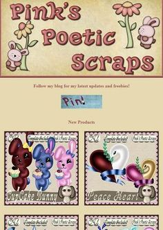 Ad:New Cupcake Bunny & Peace Heart Scripts/Templates,40% Off Sale, & BT Freebies by Pink's Poetic Scraps! http://mad.ly/4c9473