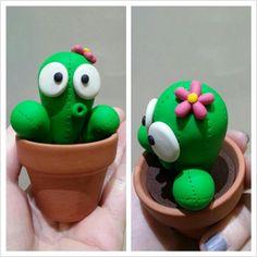 Sculpey polymer clay Cactus fimo plant https://www.facebook.com/DeeRaaArts polymer clay sculpey fimo super sculpey