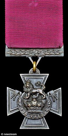The Victoria Cross, pictured, is the highest honour the Army can bestow on a solider for b...