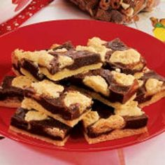 Can't Leave Alone Bars Recipe - have made this recipe many times for potlucks and for Christmas cookie trays. Very easy and delicious!