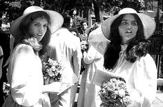 Caroline Kennedy and Maria Shriver wore matching sun hats to the June wedding of their cousin Courtn. Rose Kennedy, Caroline Kennedy, Jacqueline Kennedy Onassis, Sweet Caroline, Rosemary Kennedy, Edwin Schlossberg, Eunice Kennedy Shriver, Anastasia Broadway, Maria Shriver