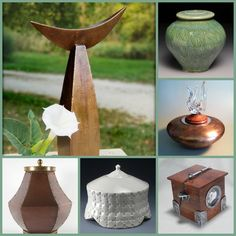 A variety of handmade urns in various materials is available today. New Market, Urn, Coffin, Funeral, Shark, Opportunity, Death, Artsy, Table Decorations