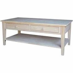 International Concepts Ot-8C Spencer Coffee Table, Ready To Finish