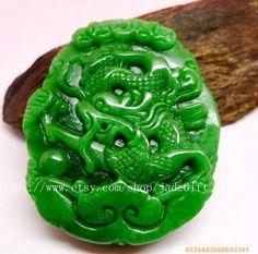 Free Shipping  Amulet auspicious green jade jadeite by jadeGift, $26.99