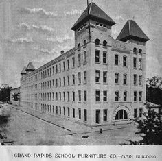 c045e392d7b2 Grand Rapids School Furniture 1886. Name changed to American Seating in  1906. Broadway Ave