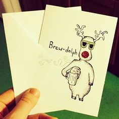 This red-nosed lush.   25 Terrible Christmas Puns That'll Make Your Dad So Happy