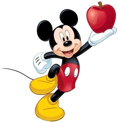 """Disney Classics"": ""Mickey's jump with A Red Apple in his hand"", as courtesy of Sanrio"