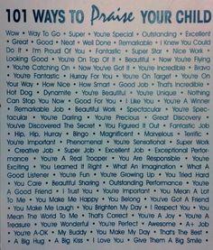 Build your child's self esteem