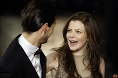 Georgie Henley and Ben Barnes