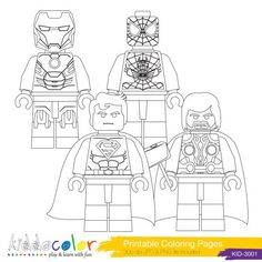 Lego Super Heros Coloring Page Free Printable  Travel Activities