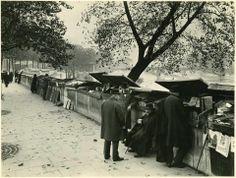 Le quai Malaquais et les bouquinistes, en 1933