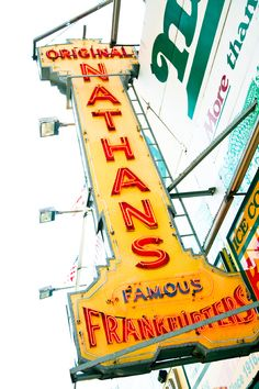 Coney Island, would love to visit and try one of their famous dogs at Nathan's! Bet they're super good!!