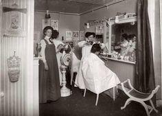 holdthisphoto:    1916 Beauty Salon