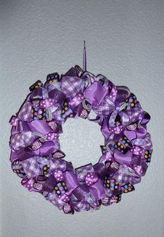 Use this one!!! DIY Ribbon Wreath tutorial