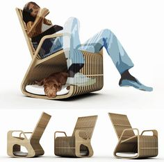 """Paul Kweton designed for the 2010 Barkitecture in Houston, TX, this Rocker merges a rocking chair and dog house into one — what he calls """"hybrid furniture."""""""