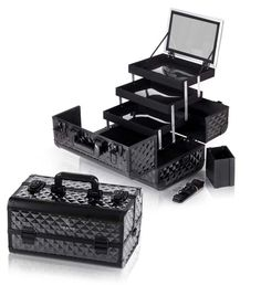 Fantasy Collection Makeup Artists Cosmetics Train Case - Black Diamond - MAKEUP TRAIN CASES - TRAIN CASES