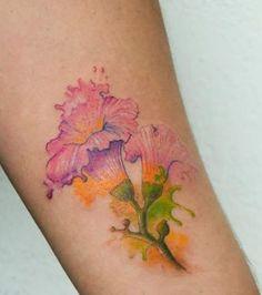 Flor de Maquilishuat  By @vir_cortez #flowerstattoo #tattoocolors #watercolortattoo #watercolor #inked #tattoowrist #maquilishuat