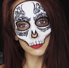 Half pretty skull