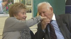 Toronto couple Harold and Nancy Kleinberg met at a concentration camp during the holocaust, when Nancy saved his life. The two later found each other again in Toronto after the war, married, had four children, nearly a dozen grandchildren, and two great grandchildren.