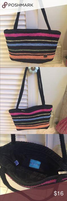 Small / Mini Sak purse EUC. small Sak purse / Sak mini hobo with vibrant color stripes. Zipper close. Interior pockets. No signs of wear. Sak Bags Shoulder Bags