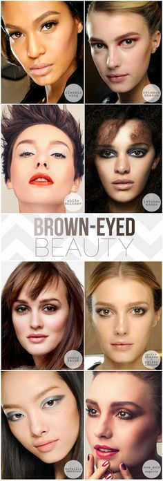 Makeup tips for brown eyes!