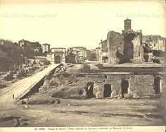 Foto storiche di Roma - Tempio di Venere e Roma - 1885