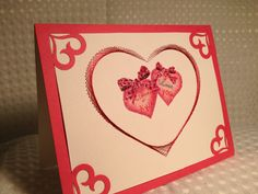Beads and stitching valentines card