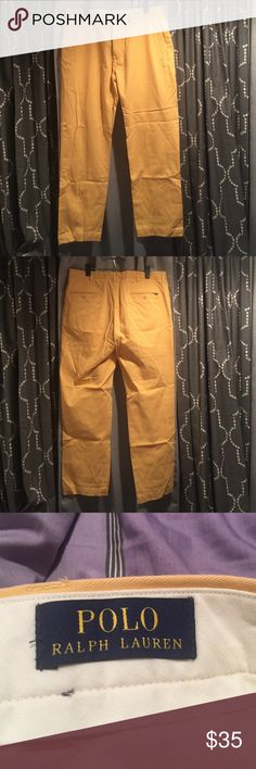 Polo Ralph Lauren Men's Pants: Size 36/32 Polo Ralph Lauren Men's pants, yellow, size 36/32, gently worn Ralph Lauren Pants