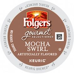 Enter to #WIN Four full size boxes of Folgers Mocha Swirl Keurig K-cup coffee from Cross Country Cafe. #GIVEAWAY