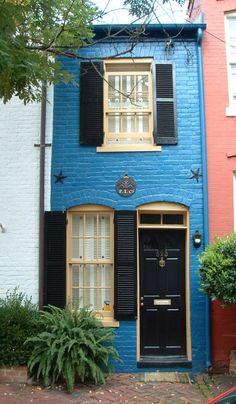 blue door Alexandria, Virginia, posted via coffeepearlsandpoetry.tumblr.com