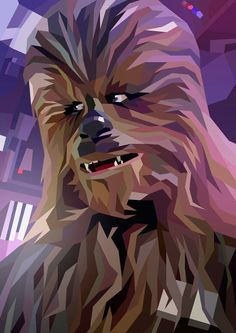 Artist Showcase - Colorful Star wars illustrations by Liam Brazier Chewbacca, Star Wars Fan Art, Star Trek, Star Wars Poster, Posters Geek, Cuadros Star Wars, Star Wars Painting, Films Cinema, Star Wars Pictures