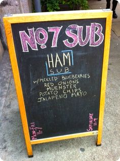 some of the best sandwiches in NYC: no. 7 sub.