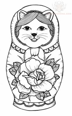 nesting doll coloring pages | RENAISSANCE / MATRYOSHKA + MORE PAPER DOLLS for both Boys + Girls ...