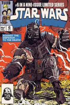 Darth Vader Star Wars homage for Secret Wars #10 comic cover