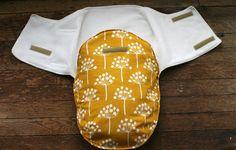 Baby swaddler/snuggler wrap  Mustard yellow by WindowFriendCrafts, $34.00