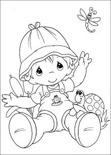 coloring page Precious moments on Kids-n-Fun. Coloring pages of Precious moments on Kids-n-Fun. More than coloring pages. At Kids-n-Fun you will always find the nicest coloring pages first! Insect Coloring Pages, Animal Coloring Pages, Coloring Pages To Print, Free Printable Coloring Pages, Coloring Book Pages, Coloring Pages For Kids, Kids Colouring, Free Printables, Precious Moments Coloring Pages