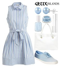 """""""Greek islands"""" by j-n-a ❤ liked on Polyvore featuring Milly, Keds, Sole Society, Essie, Lancôme, Givenchy, Packandgo and greekislands"""