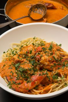 Spicy Lobster Pasta – (Free Recipe below) - Null Tutorial and Ideas Seafood Dishes, Fish And Seafood, Pasta Dishes, Pasta Food, Lobster Recipes, Seafood Recipes, Fish Recipes, Chicken Recipes, Pastas Recipes