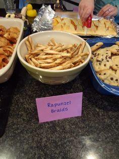 Rapunzel Party Food Idea Braided Pretzels As Braids