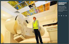 The image is the project officer David Glastonbury in one of the two radiation therapy rooms in the cancer centre of the Blacktown Mount Druitt Hospital. The Expansion Project will be complete and the centre will open in 2016. The image is the project officer David Glastonbury in one of the two radiation therapy rooms in the cancer centre of the Blacktown Mount Druitt Hospital. The Expansion Project will be complete and the centre will open in 2016.