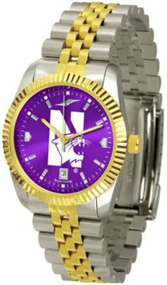 Northwestern Wildcats Executive AnoChrome Men's Watch by SunTime. $154.10. The ultimate NCAA Northwestern Wildcats fan's statement, our Executive timepiece offers men a classic, business-appropriate look. Features a 23KT gold-plated bezel, stainless steel case and date function. Secures to your wrist with a two-tone solid stainless steel band complete with safety clasp.The AnoChrome dial option increases the visual impact of any watch with a stunning radial reflection similar t...