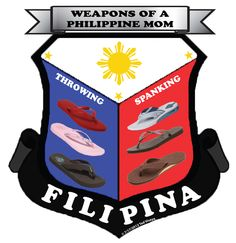 Playing around with Photoshop and Illustrator. The weapons of a Philippine mom is a take off from the Weapons of Moroland Shield souvenier from the Philippines.