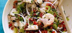 Salade de Crevettes Weight Watchers Saveur, Shrimp, Cabbage, Meat, Chicken, Vegetables, Food, Weight Watchers Shrimp, Bon Appetit