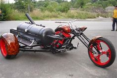 Must gotta get, me-self one of these beauts - Custom Stainless Motorcycle BBQ Grill