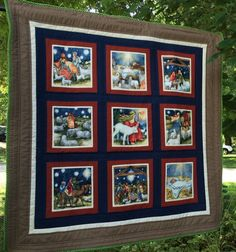Nativity Story Wall Quilt Quilted Christmas by PeggyGaylerDesigns