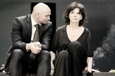 Patrick O'Kane and Juliette Binoche. Photo by Jan Versweyveld.