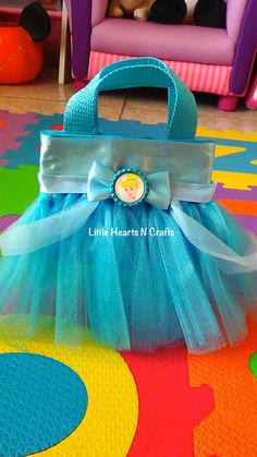 Cinderella Princess Inspired Tutu Purse by LittleHeartsNCrafts