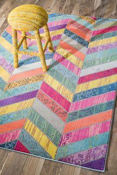 Handmade Multi Chevron Area Rug by DECORmyHOME on Etsy