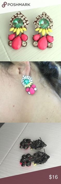 Fashion earrings 💫 Nwot. Never used. Perfect condition. Pretty colors! Jewelry Earrings